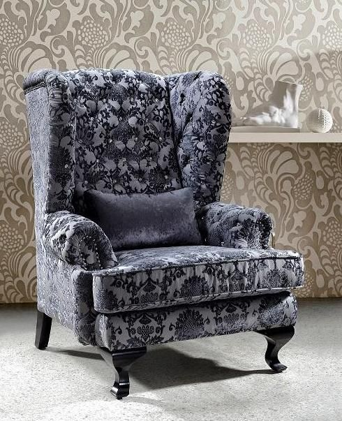 fabric chair with swarovski crystals houston texas. Black Bedroom Furniture Sets. Home Design Ideas