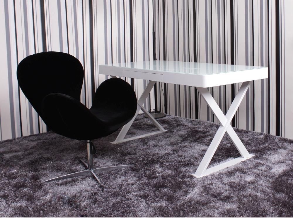 White l Shaped Desk Desk With x Shaped Legs