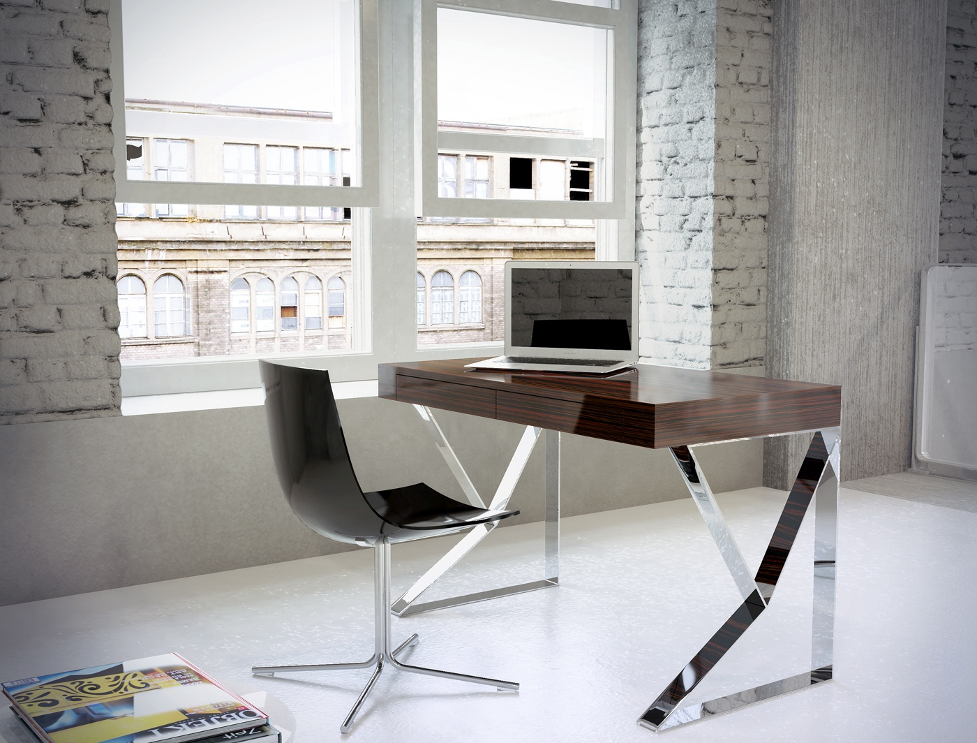 Contemporary Two Drawer Office Desk