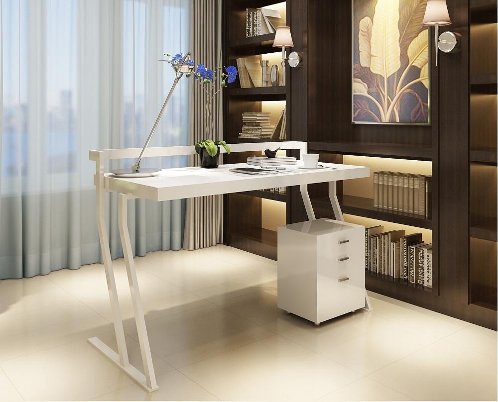 Contemporary Office Desk With Unique Shaped Legs Washington Dc J Amp M A48