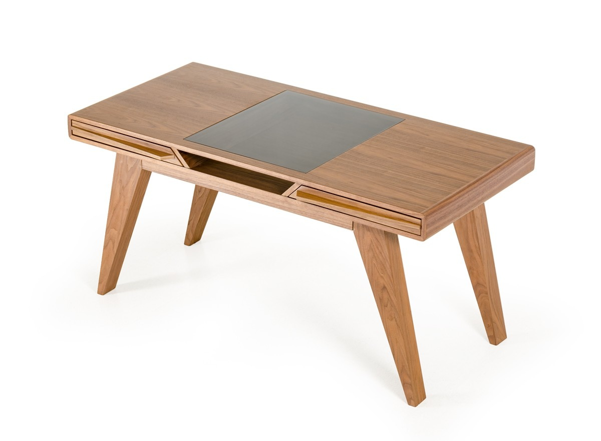 Walnut home office desk furniture los angeles california - Walnut office desk ...