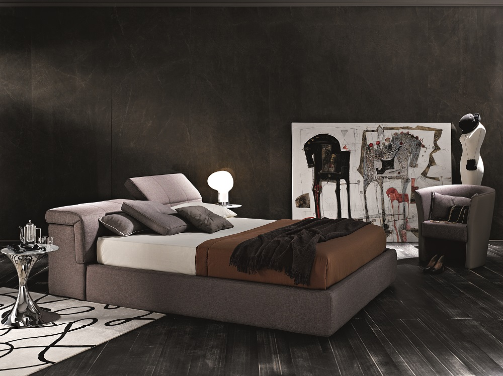 Made In Italy Wood Platform And Headboard Bed With Extra Storage Wichita Kansas J M Tower
