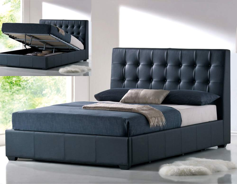 Stylish Leather Luxury Platform Bed with Extra Storage Coral Springs Florida AHATHENS