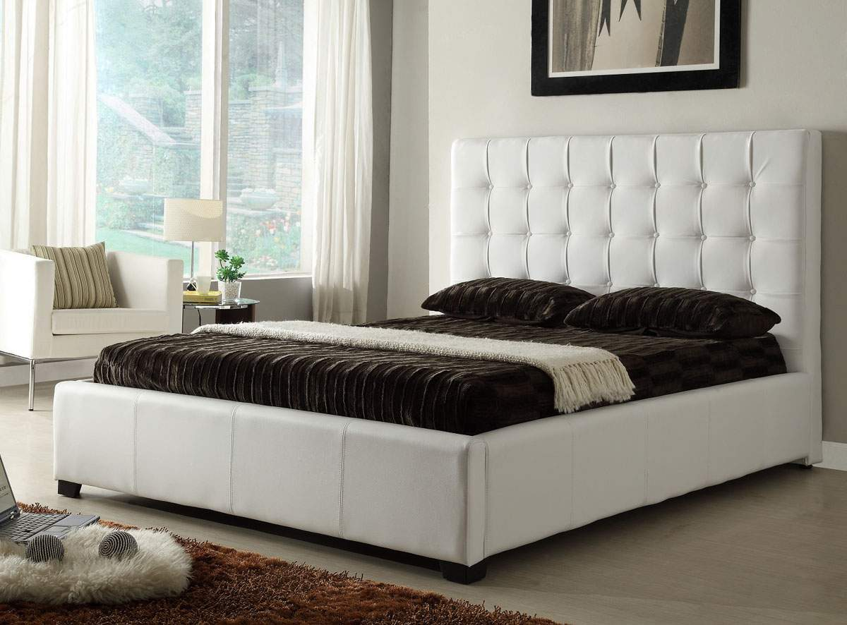 stylish leather elite platform bed with extra storage