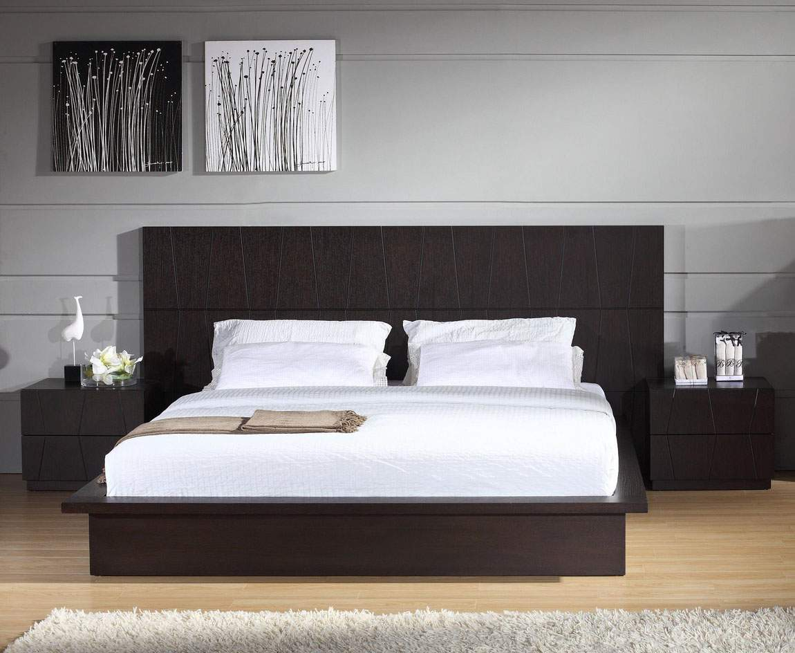 Stylish wood elite platform bed washington dc bh anchor for Contemporary beds