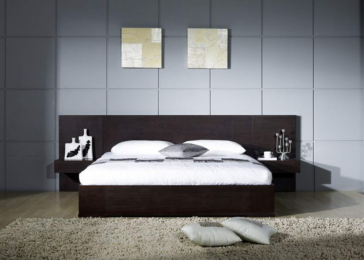 Stylish wood elite platform bed boston massachusetts bh epic for Latest model bed design