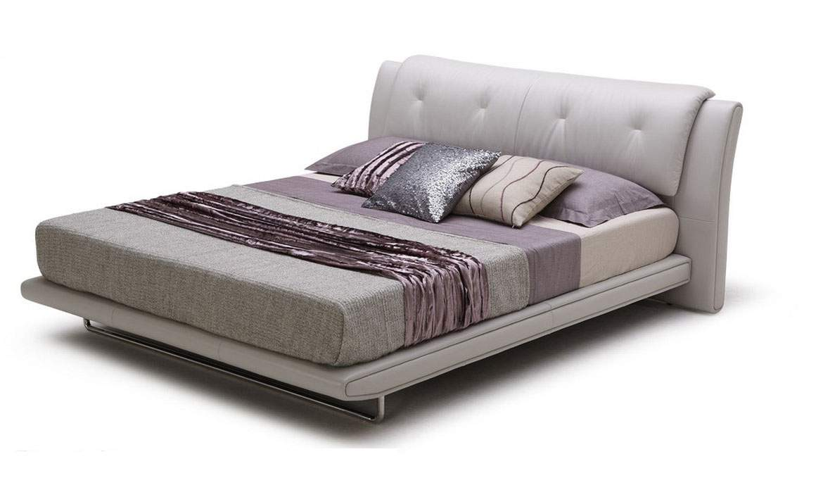 Italain leather modern platform bed los angeles california bhposh - Modern bed ...