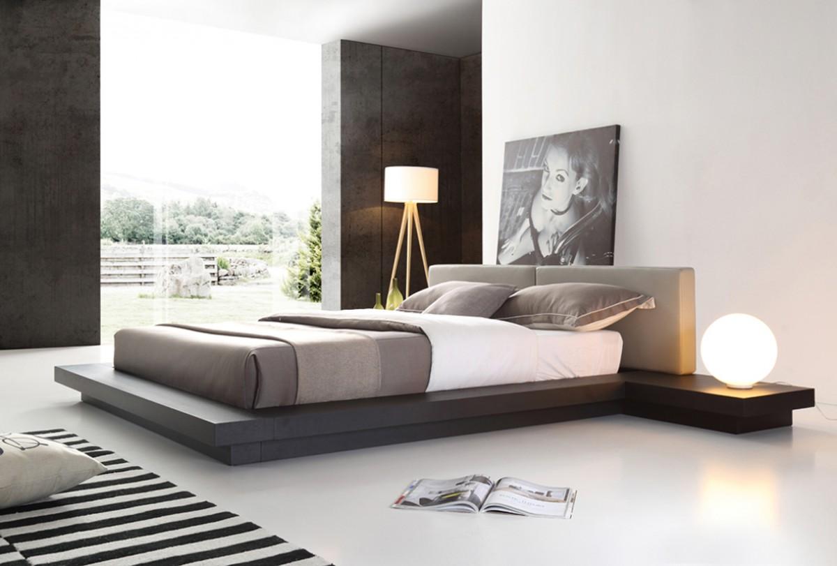 Sophisticated Leather Modern Platform Bed Omaha Nebraska Vopa