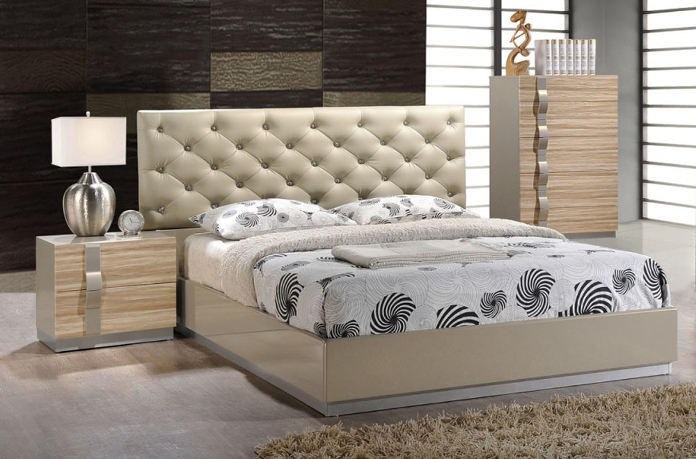 Exquisite leather luxury platform bed san francisco california gfgra - Look contemporary luxury bedding ...