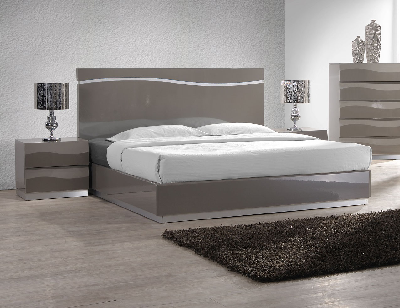 wave platform bed lacquered sophisticated quality elite platform bed 13794