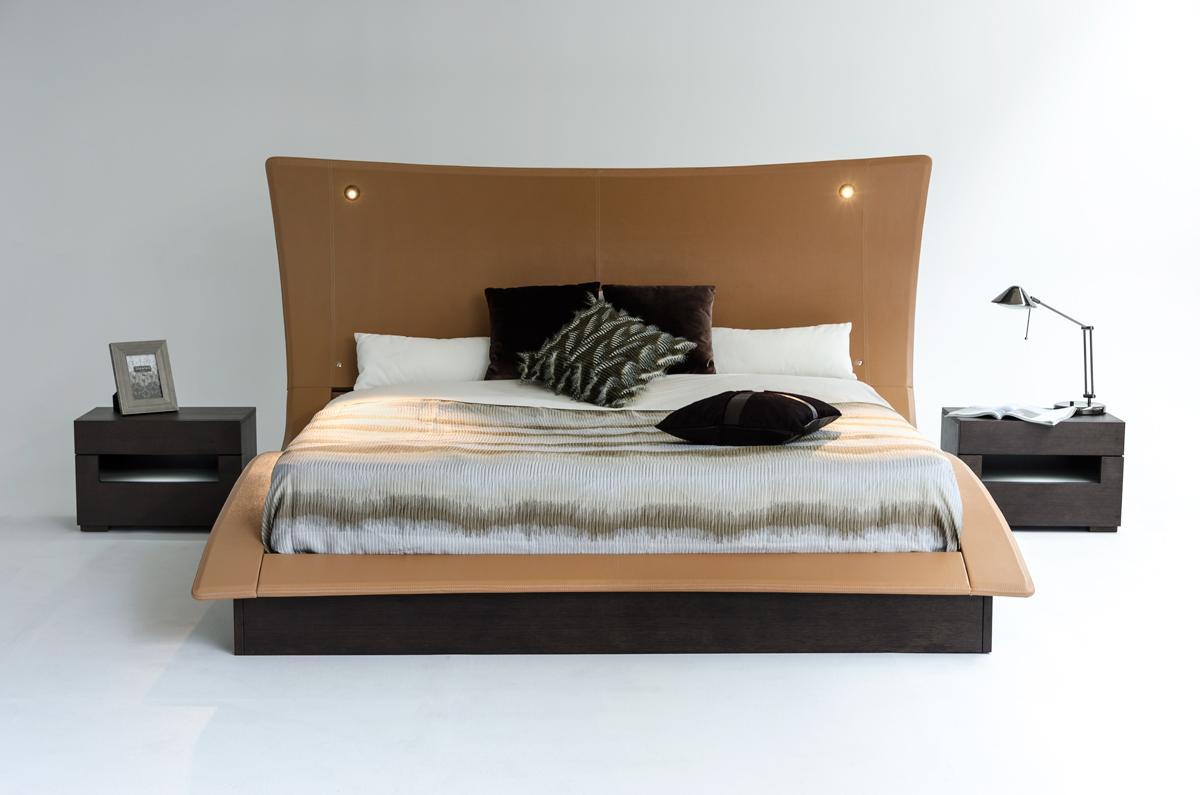 Overnice leather luxury platform bed oakland california vherc - Luxury platform beds ...