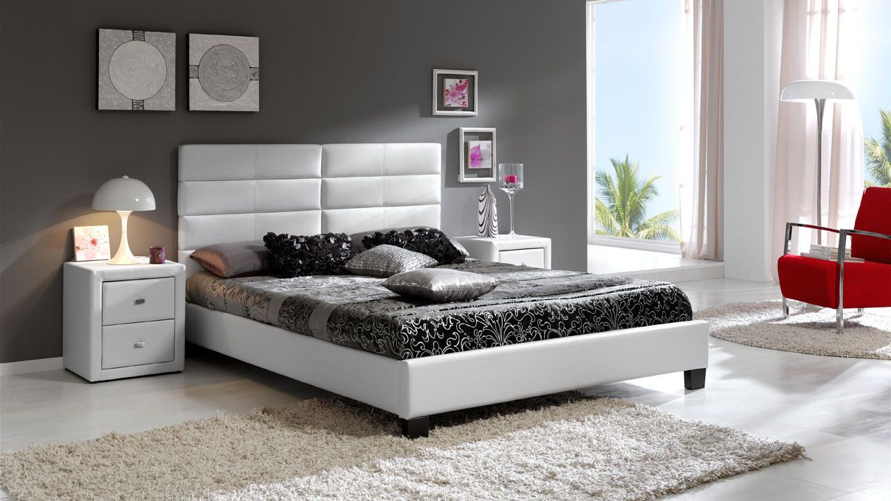Made in spain leather luxury platform bed with drawers chicago illinois esfisa - Luxury platform beds ...