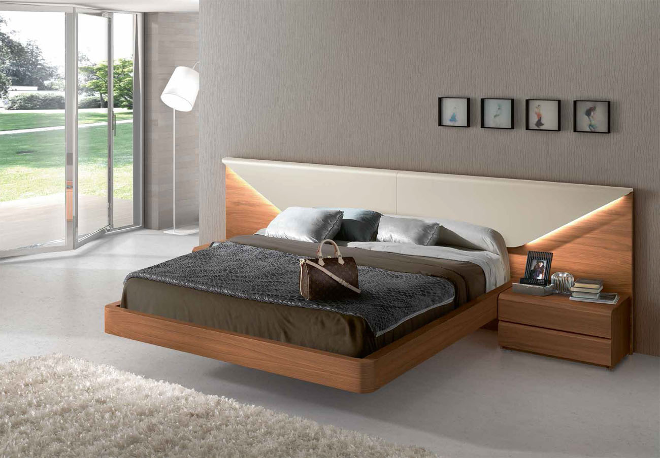 platform bed modern lacquered made in spain wood luxury platform bed with 12915