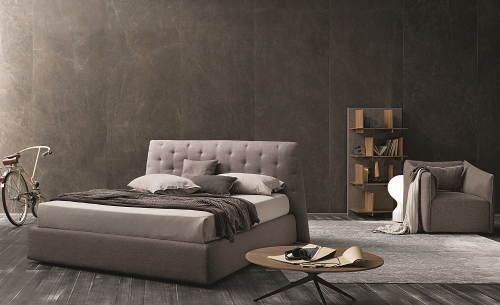 Made In Italy Wood Modern Platform Bed With Extra Storage