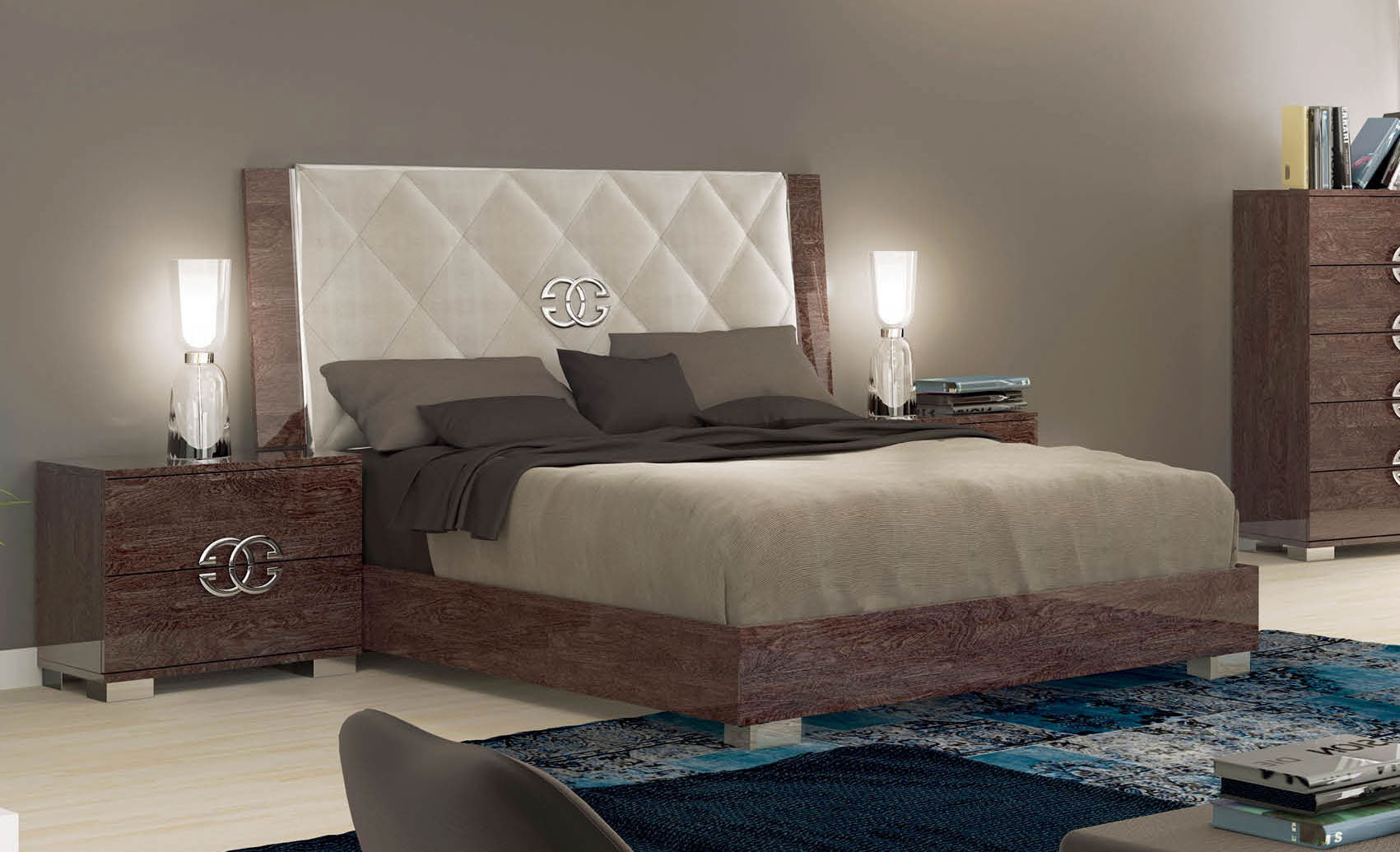Pictures of platform beds - Sku 412716 Unique Leather High End Platform Bed