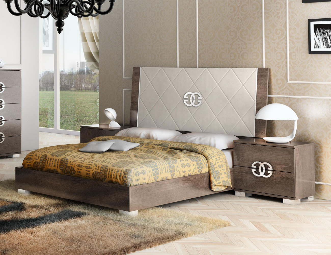 unique leather high end platform bed birmingham alabama esfpre. Black Bedroom Furniture Sets. Home Design Ideas