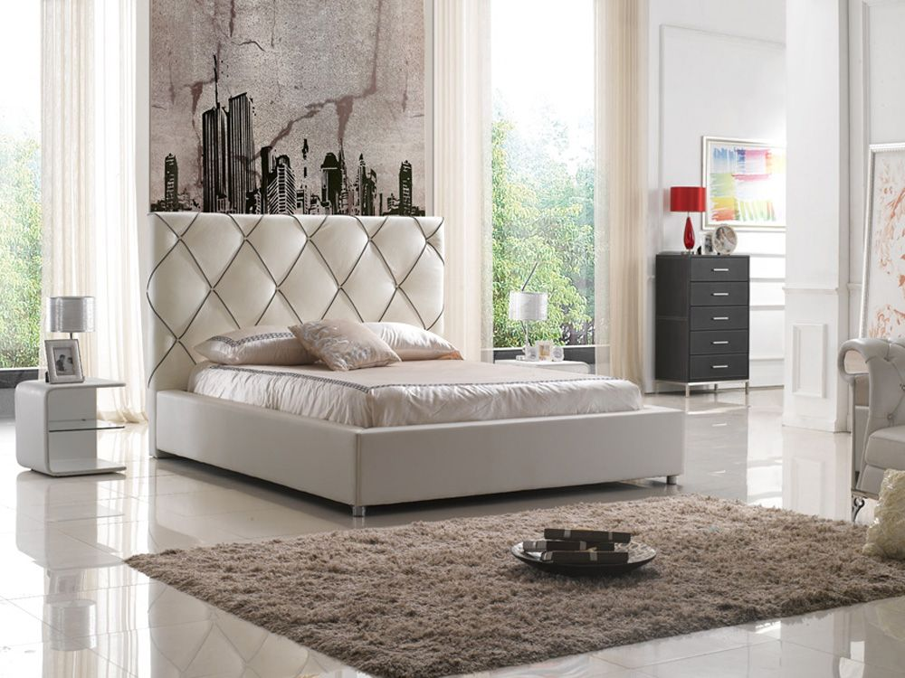 Bedroom Furniture Evansville In elegant leather high end platform bed with led light evansville