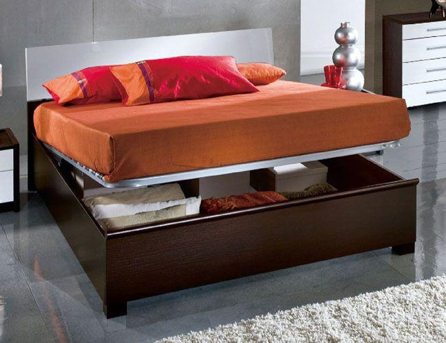 Elegant Wood Luxury Platform Bed With Extra Storage
