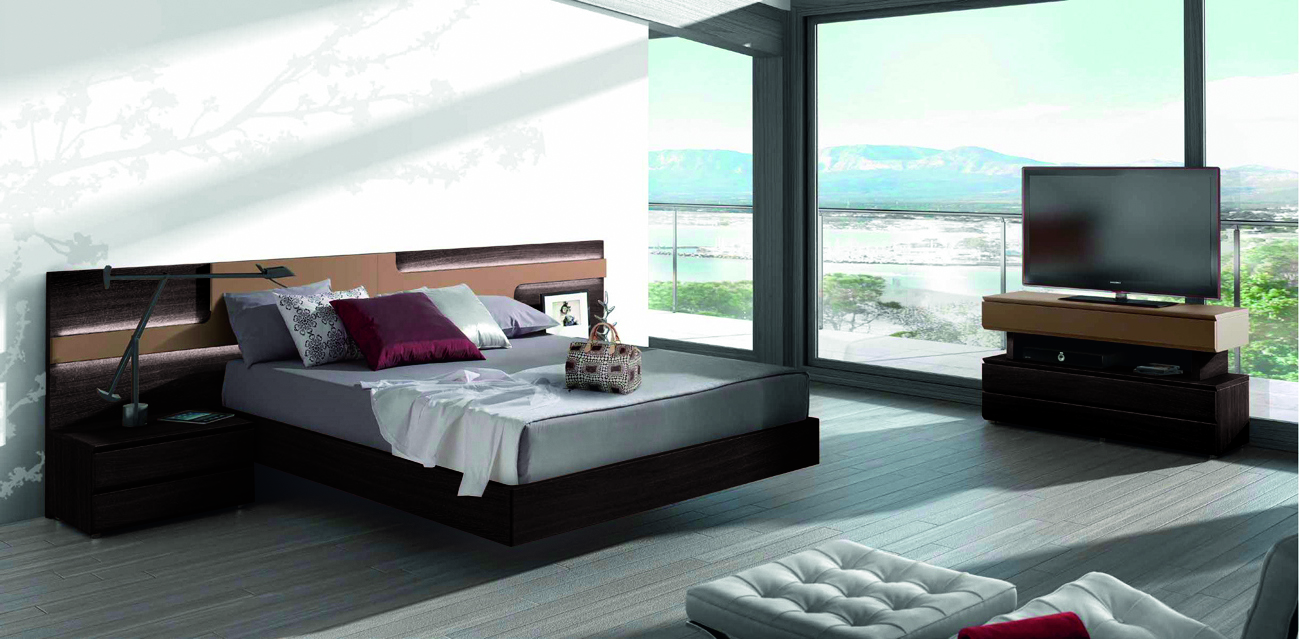 wood elite platform bed with large headboard jersey new jersey gc505