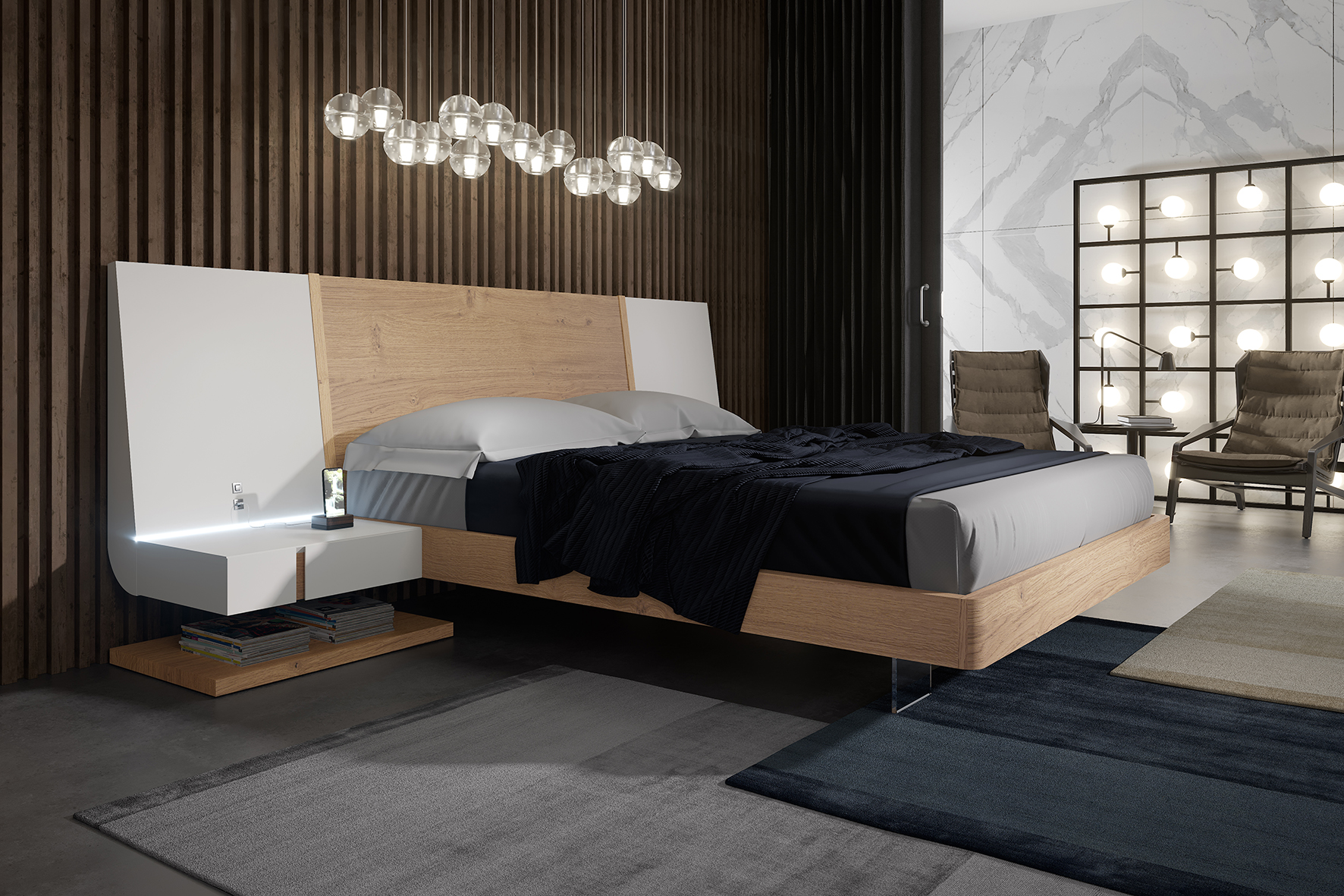 Picture of: Extravagant Wood High End Platform Bed With Drawers Los Angeles California Garcia Sabate Air Ym05