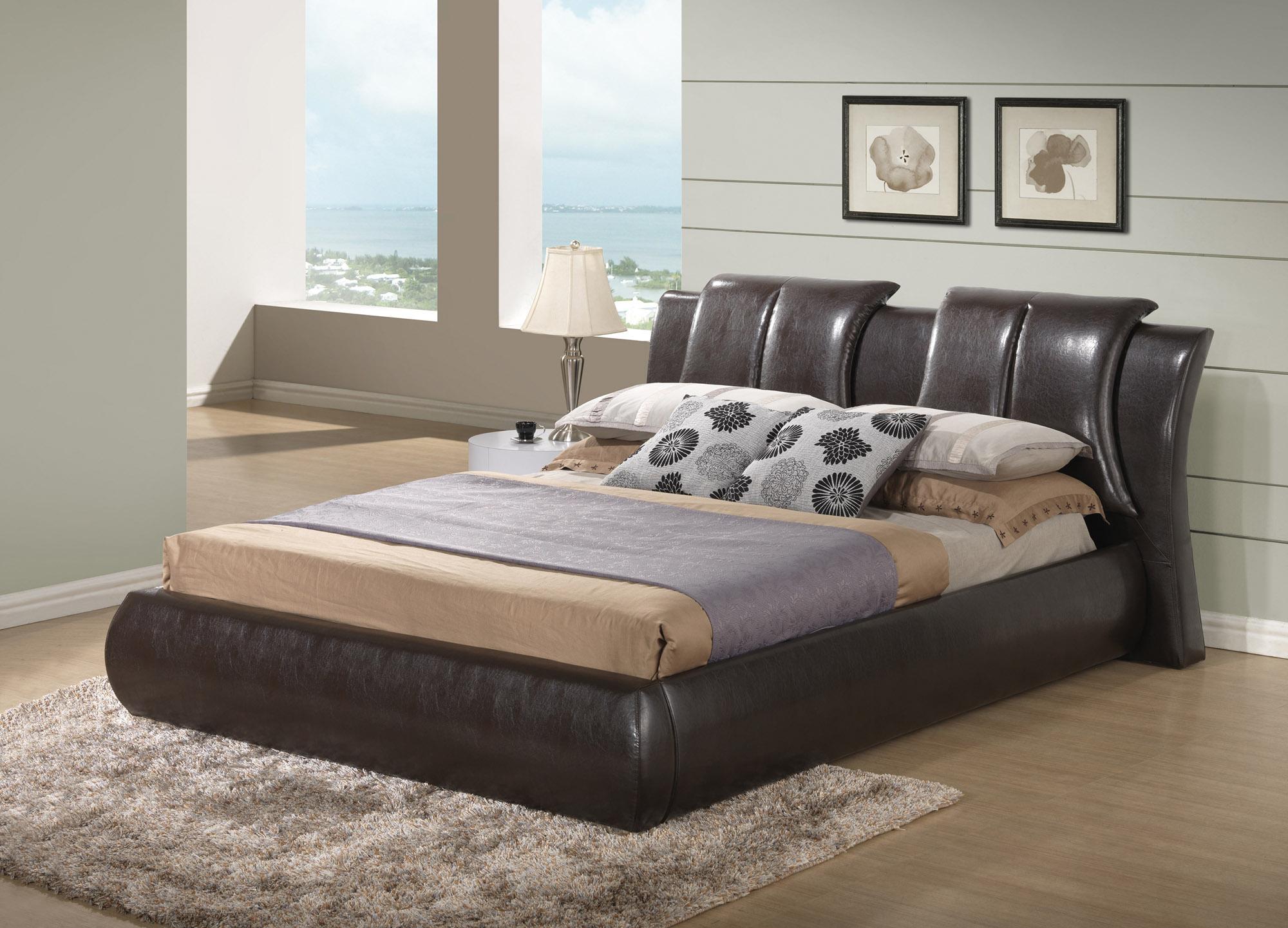 High class Leather Luxury Platform Bed New York New York GF8269
