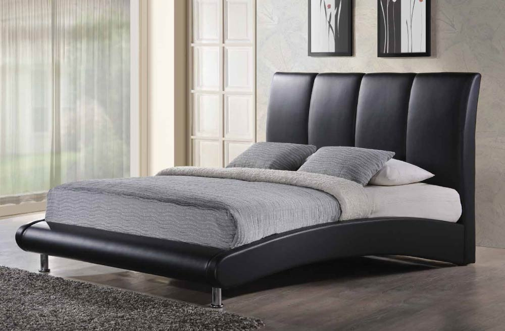 overnice leather platform and headboard bed chicago illinois gf8272