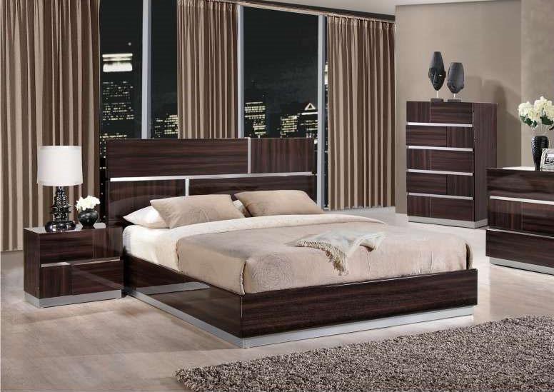Lacquered elegant wood luxury platform bed houston texas gftrib - Luxury platform beds ...