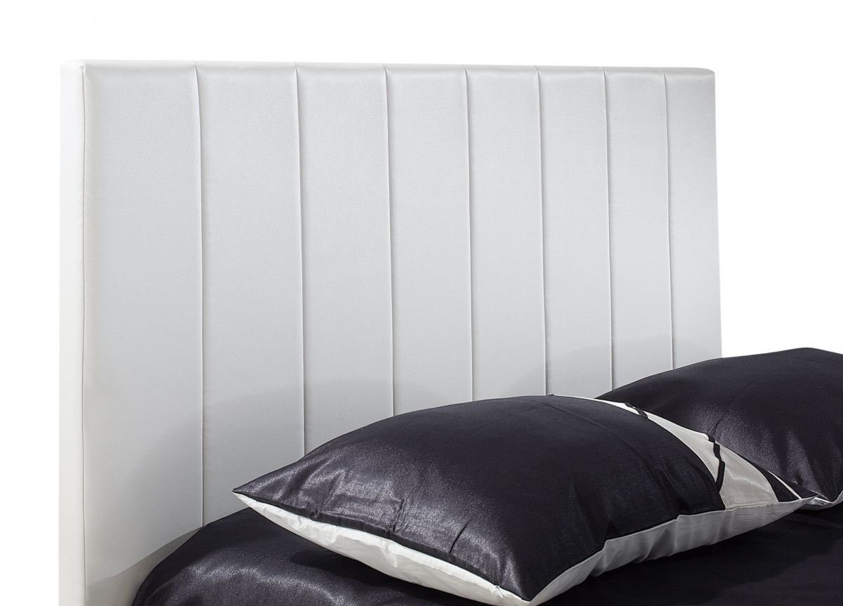 White modern platform bed - Add And Save