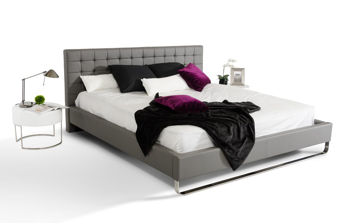 Elegant Leather Modern Platform Bed Tulsa Oklahoma Vgem