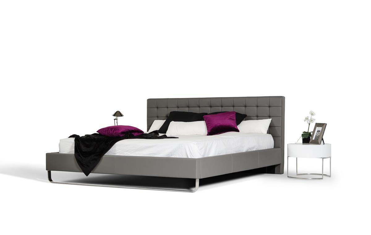 Elegant leather modern platform bed tulsa oklahoma vgem for Exotic bed frames