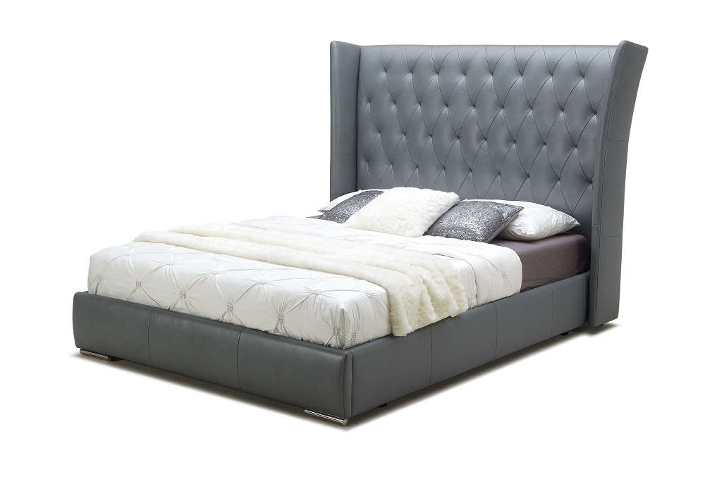 Extravagant Leather Platform And Headboard Bed San Antonio