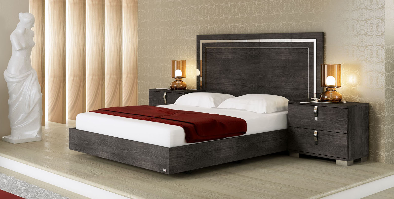 Lacquered Made In Italy Quality Luxury Platform Bed Boston