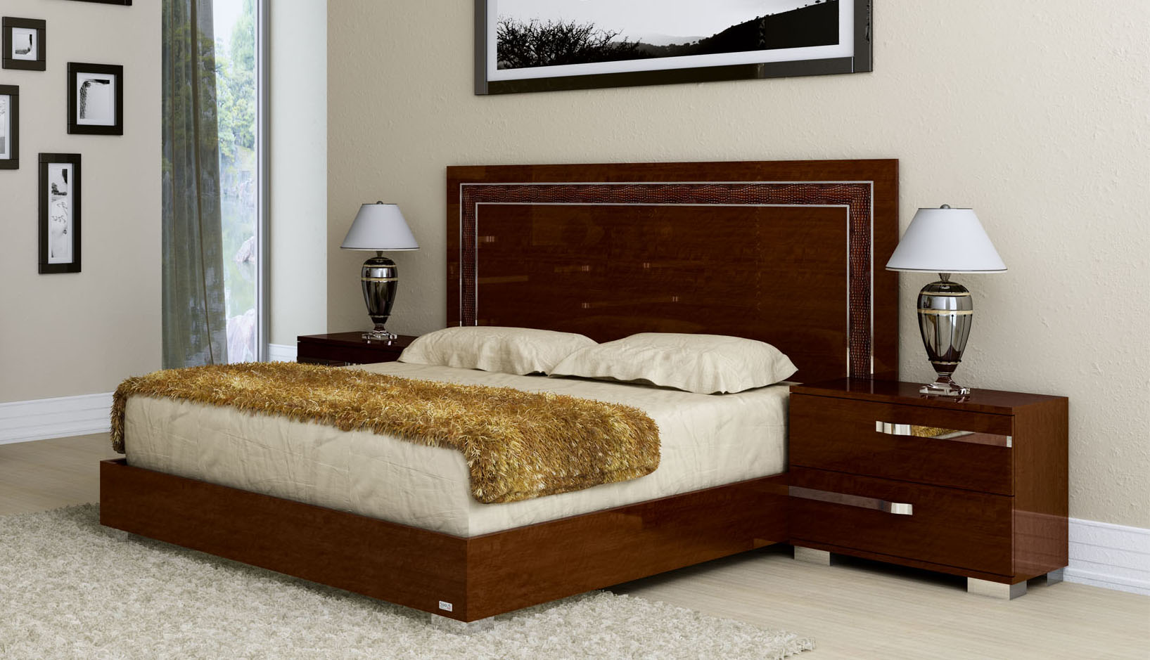 Made in italy leather luxury platform bed el paso texas ahvol Jewish master bedroom two beds