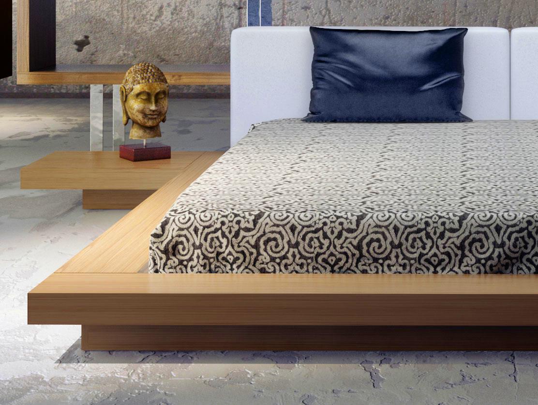 Exotic Leather Modern Platform Bed Albuquerque New Mexico Modloft Worth Wanut