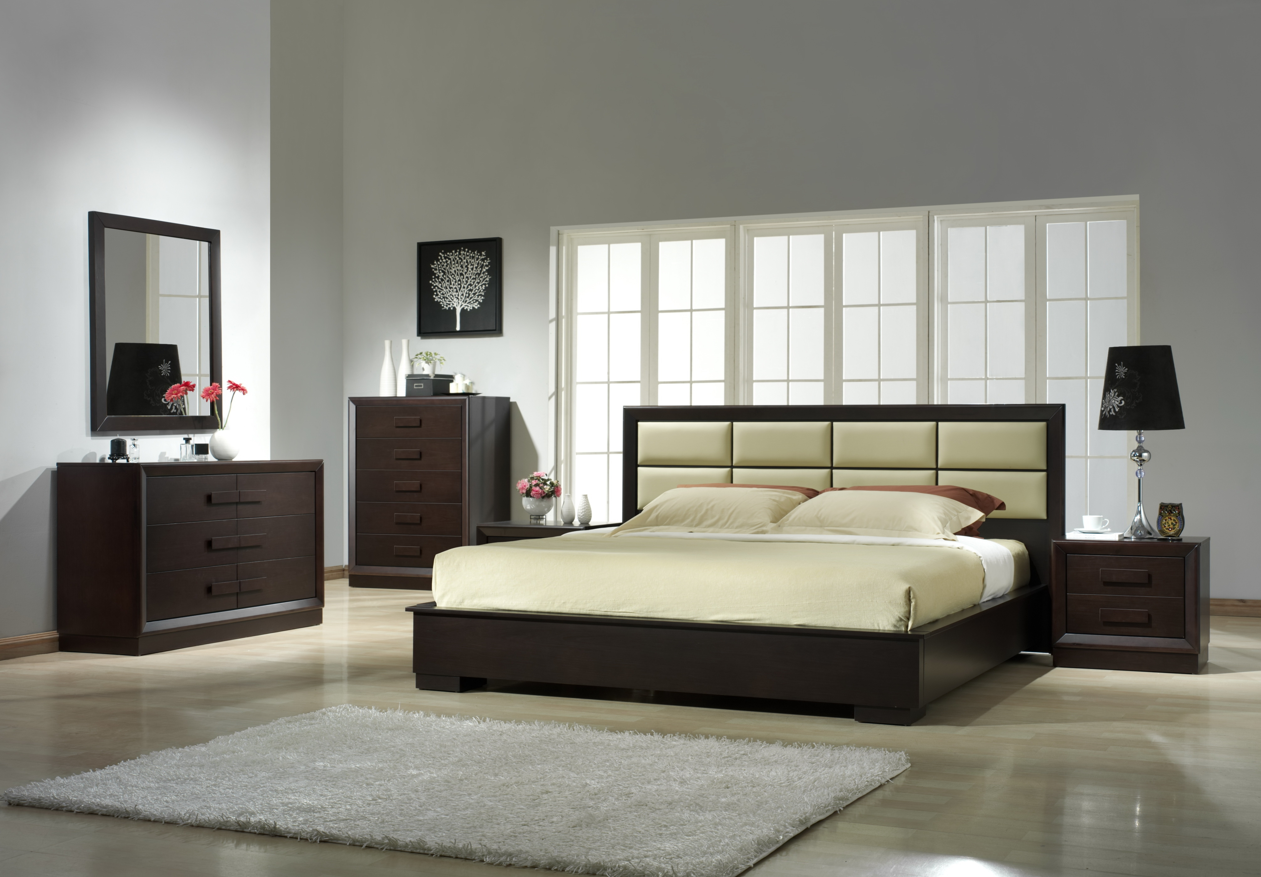 Unique Leather Platform And Headboard Bed Fort Wayne Indiana J M Boston