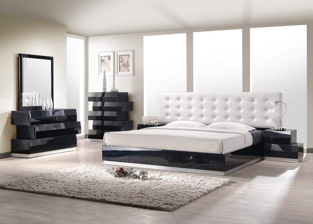 Lacquered exclusive leather luxury platform bed newport news virginia j m milan - Luxury platform beds ...