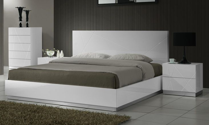 Lacquered exclusive quality high end platform bed oxnard for Exclusive beds