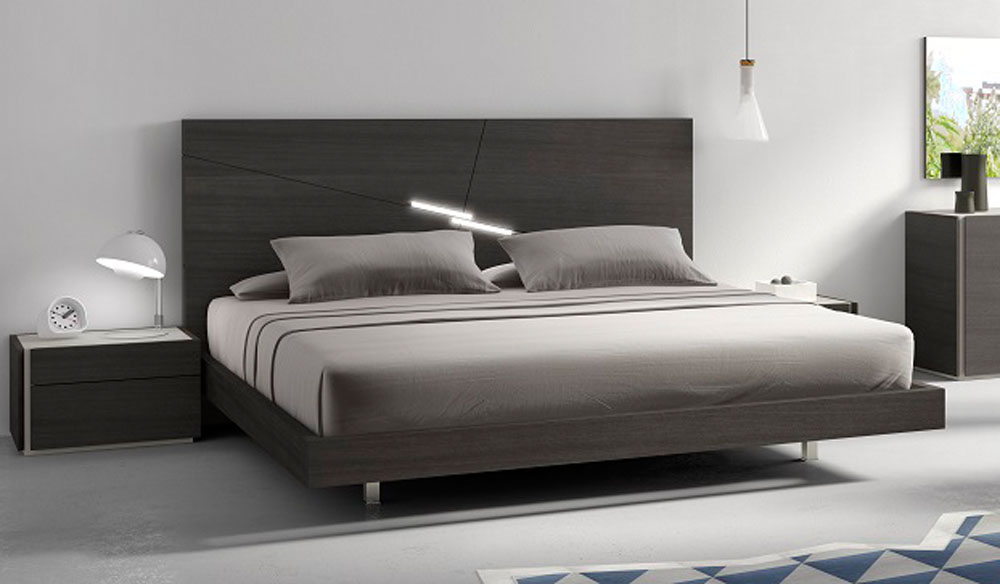 Refined wood luxury platform bed jacksonville florida j m far for Designer bed pics