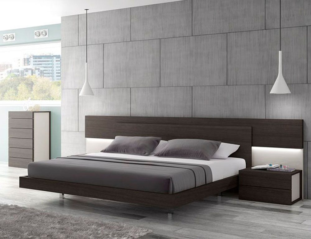 Lacquered graceful wood luxury platform bed indianapolis indiana j m maia - Modern bed volwassen ...
