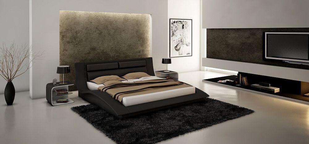 Unique wood high end platform bed houston texas j m 8361 wave for Unique platform beds