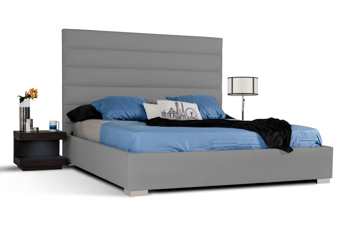 Refined leather platform and headboard bed honolulu cdp for Bedroom furniture hawaii