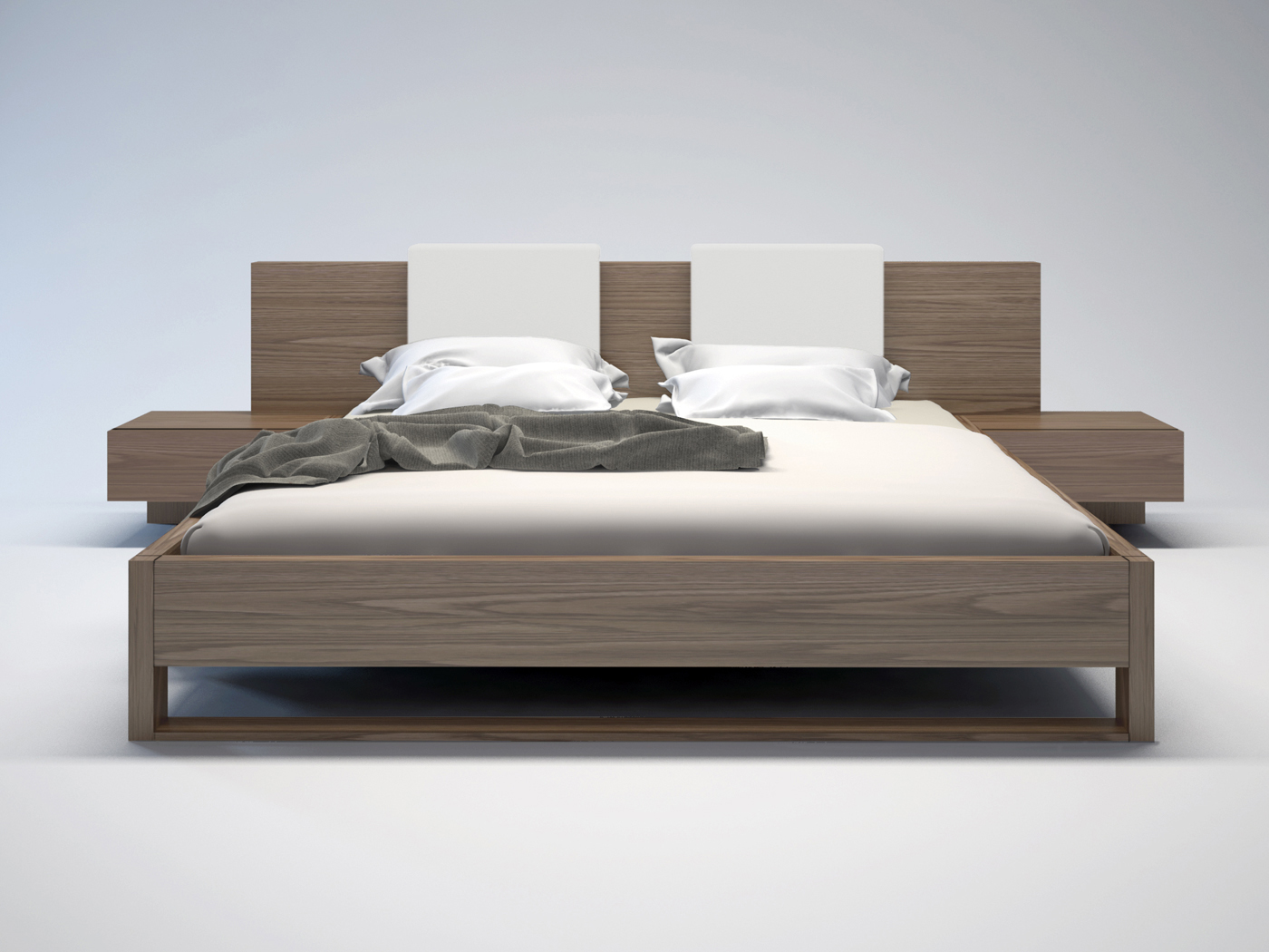 Exclusive leather platform and headboard bed kansas missouri mlmon - Decorate a contemporary king bed in a corner ...