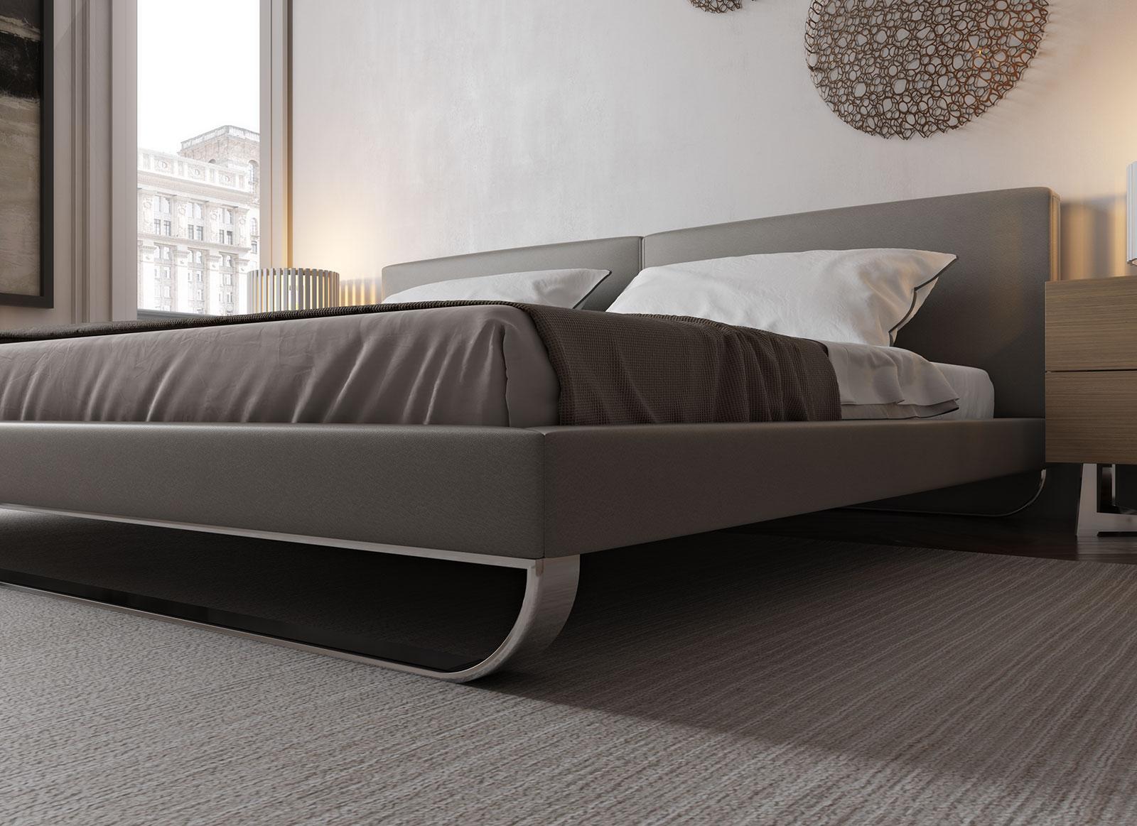 Overnice Leather Luxury Platform Bed Albuquerque New