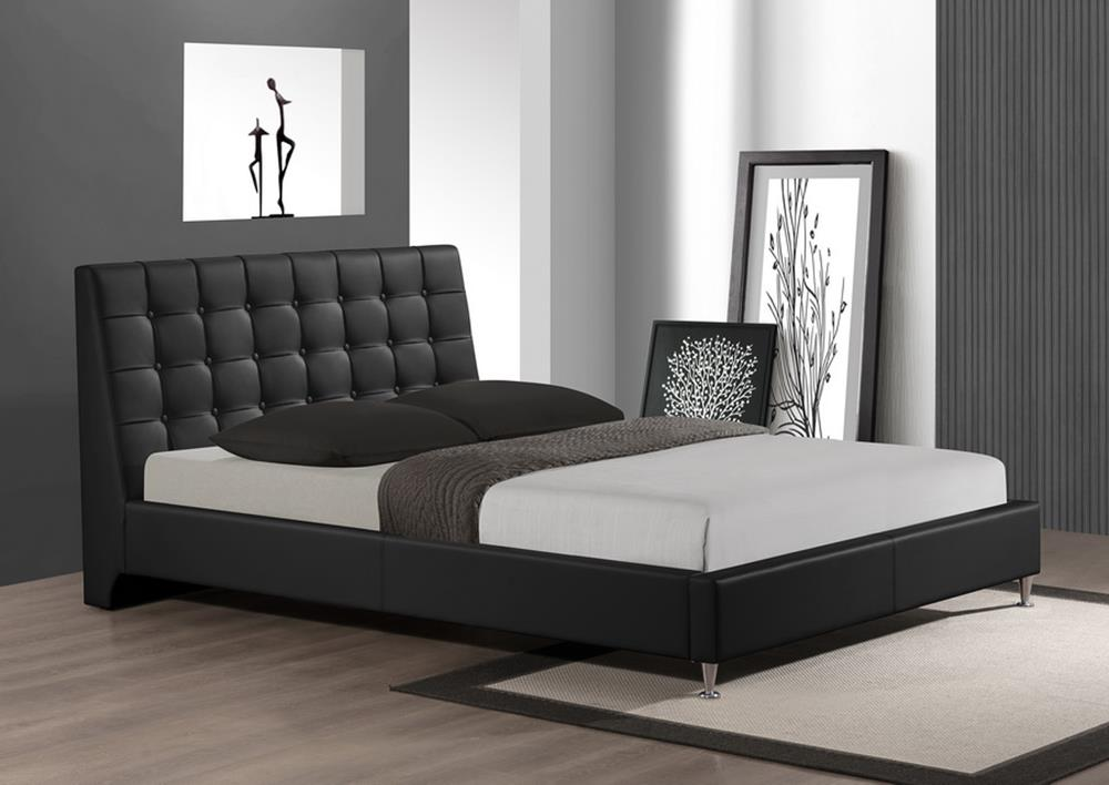 Extravagant Leather Platform And Headboard Bed Milwaukee