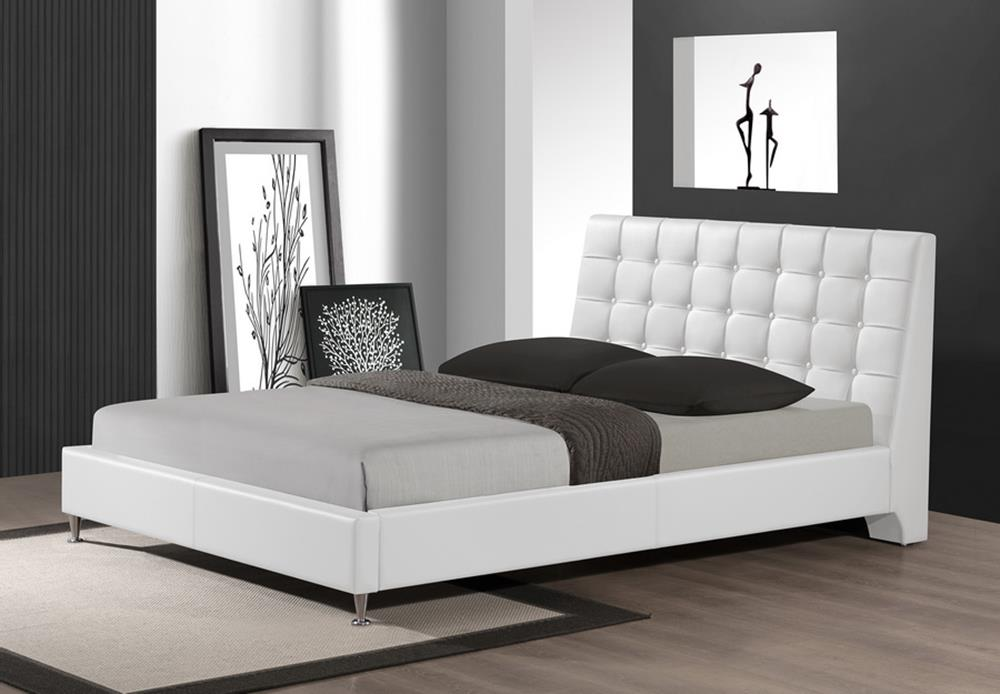Extravagant Leather Platform And Headboard Bed Milwaukee