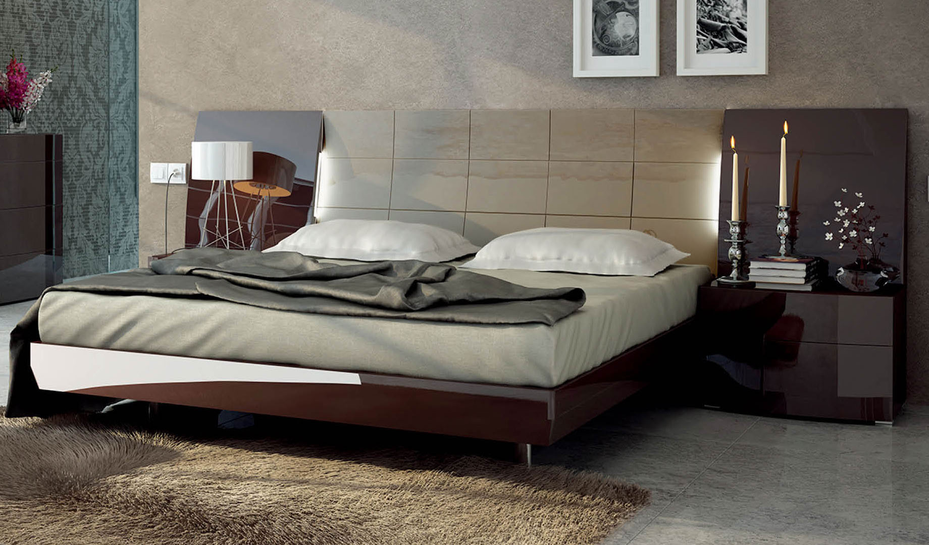 Spain Quality Luxury Platform Bed Winston Salem North