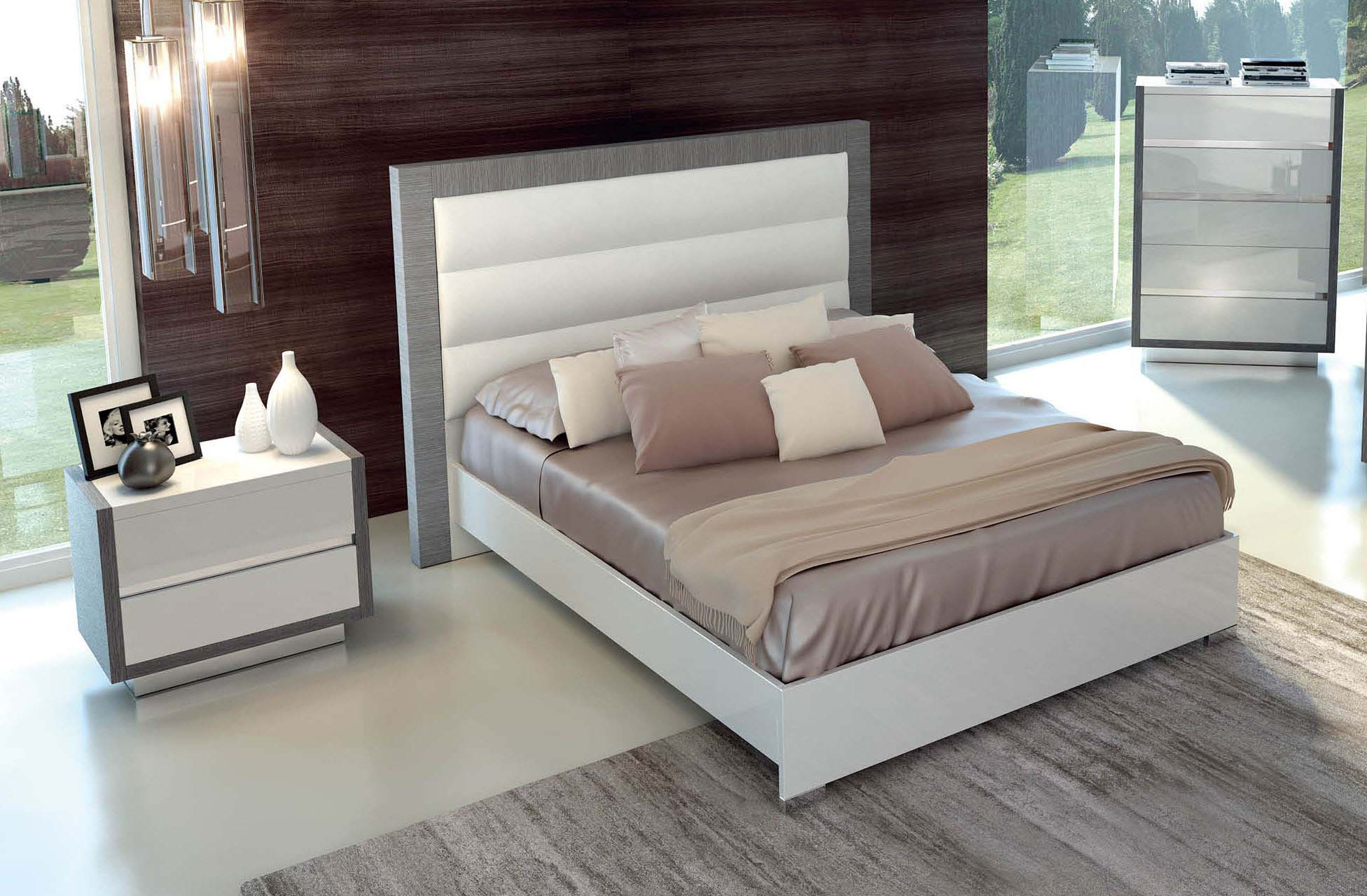 Lacquered made in italy wood luxury platform bed memphis tennessee esf mangano - Luxury platform beds ...