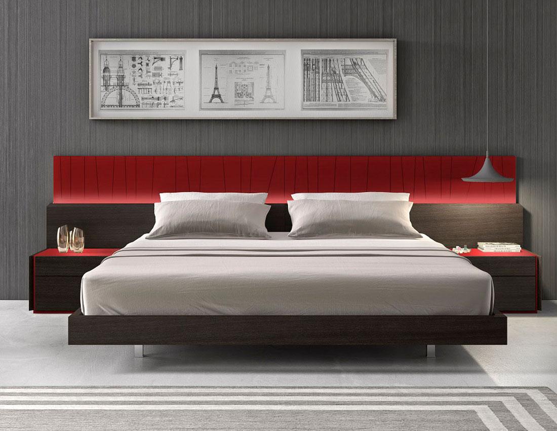 Lacquered Exotic Wood Platform And Headboard Bed San Antonio Texas J M Lagos Jmfu1458 Orren Ellis
