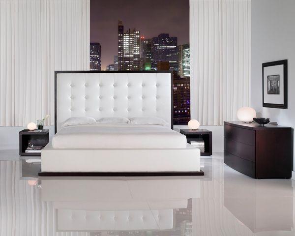 Unique leather modern platform bed nashville davidson for Unique platform beds