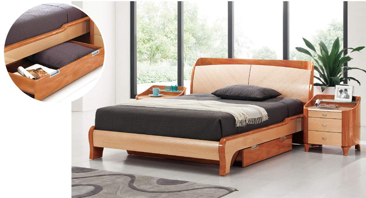 modern storage beds lacquered wood platform and headboard bed with 12627